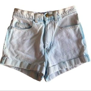 American Apparel white denim shorts